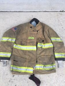 Firefighter Globe Turnout Bunker Coat 48x36 G xcel Halloween Costume 2010