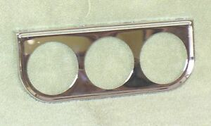 2 Chrome Triple Gauge Mounting Bracket