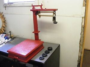 Vintage Antique Wells Fargo Scale By Howe Model N0 11 Rutland Vt Ec