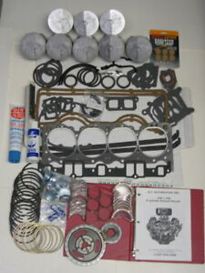 58 59 60 61 Chevy Impala 348 Engine Cam Lifters Rering Rebuild Kit No Pistons