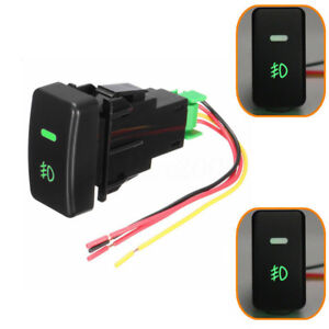 5 Pin Led Car Push Button Fog Light Switch Wire For Honda Civic Accord Crv Black