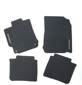 Front Rear Black All weather Rubber Floor Mats Genuine For Camry 12 14