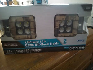 20w Cree Led Traveller 1 200 Lumen 3 5 Inch Camo Off Road Lights 2 Pack New