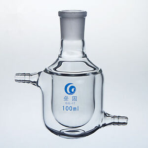100ml 24 29 single Neck jacketed Glass Flask lab Chemistry Glassware