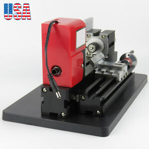 Motorized Mini Metal Lathe Machine Turning Woodworking Model Making 24w Us Stock