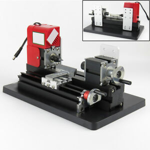 Motorized Mini Metal Lathe Machine Turning Woodworking Crafts Diy Tool us Ship