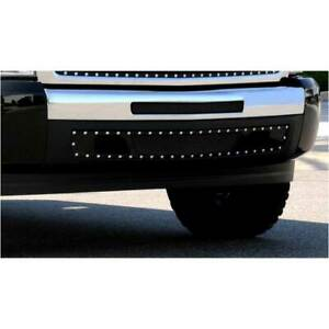 T rex Black X metal 2pc Studded Bumper Grille Air Dam For Chevy Silverado 07 13