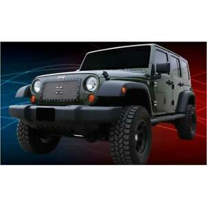 T Rex Polished X Metal Series 1pc Studded Main Grille For Jeep Wrangler 07 16