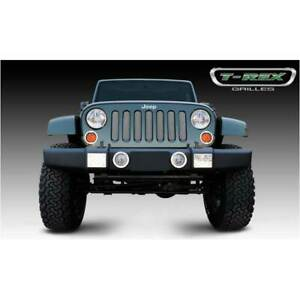T Rex Triple Chrome Plated Sport Series Mesh Grille For Jeep Wrangler 07 16