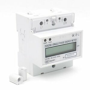 1pcs Dds238 4 20100 Single Phase Din rail Type Kilowatt Hour Kwh Meter 220v 6
