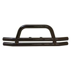 Smittybilt Tubular Front Bumper Black W Hoop For Jeep Cj Tj Yj Lju 1976 2006