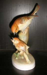 Vintage Porcelain Crown Staffordshire England Bird Figurine Flycatcher Nr