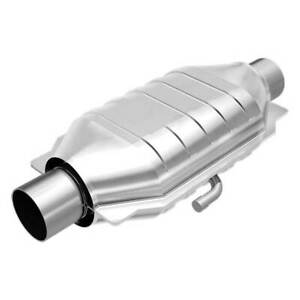 Magnaflow 94316 High flow Catalytic Converter Oval 2 5 In out W Air Tube