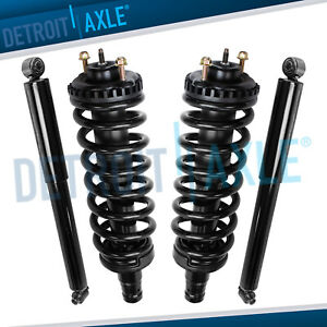 Front Strut Rear Shock For 2002 09 Gmc Envoy Xl Xuv Chevy Trailblazer Saab 9 7x