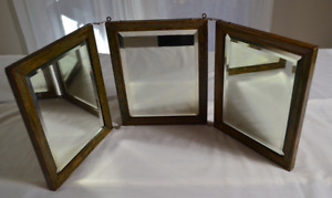 Antique Tri Fold Beveled Edge Mirror