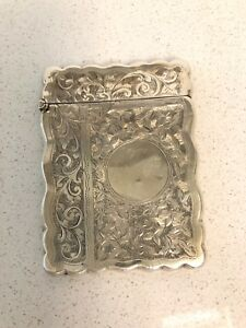 Beautiful G Loveridge Victorian English Sterling Silver Card Case