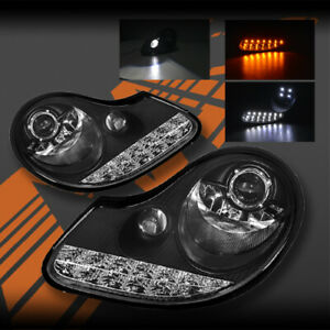 Drl Led Day time Projector Head Lights For Porsche Carerra 911 996 Boxster 986