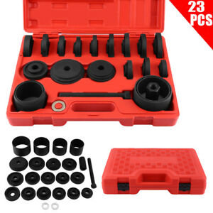 Us Front Wheel Drive Bearing Removal Install Adapter Puller Pulley Tool Kit 23pc