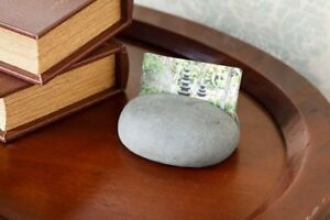 Natural Stone Business Card Holder Stand Unique Gift Ideas For Business