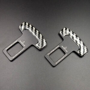 Pair Universal Seat Belt Buckle Car Safety Alarm Stopper Auto Insert Clip Clasp