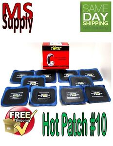 Dual Cure Hot Square Booth Radial Tire Repair Patch 2 X 3 Box Of 10