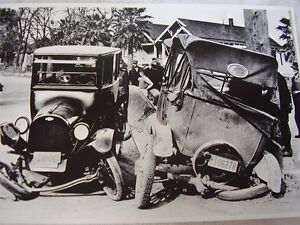 1922 Ford And Chevrolet Wreck 1922 Ca 12 X 18 Large Picture Photo