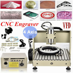800w 3040 4 Axis Cnc Router Engraving Machine Milling Carving Engraver Mach3 Vfd