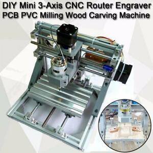 Mini 3 axis Cnc Router Engraver Diy Carving Machine For Pcb Pvc Milling Wood Us