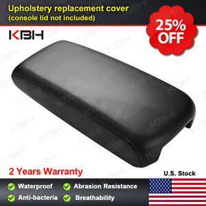 Leather Armrest Center Console Lid Cover Skin For Nissan Maxima 2009 2014 Black