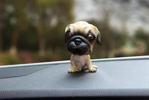 Puppy Pug Dog Bobbing Head Dog Bobble Head Shaking Toy Doll Car Dashboard Decor