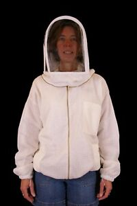 Professional Beekeeping Ventilated Jacket With Fencing Veil 2xsmall