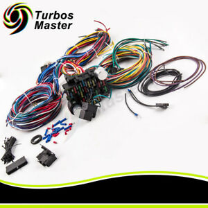 21 Circuit Wiring Harness 17 Fuses For Chevy Mopar Ford Hotrod Universal