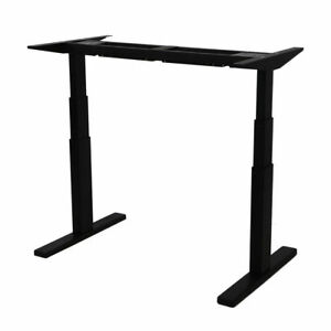 Solid Steel Dual Motor Electric Height Adjustable Desk 3 Tiers Sit Stand Up Desk