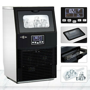 Built in Commercial Ice Maker Portable Auto Ice Cube Machine Stainless Steel Bar