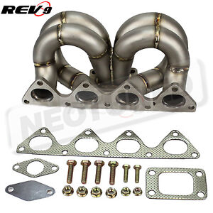 Rev9 Hp serie Equal Length T3 Turbo Manifold 38mm Wastegate Flange For B16 b18