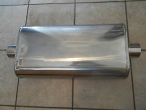 Polished Stainless Steel 3 Inlet 3 Outlet Aero Turbine Muffler New