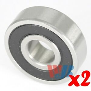 2pc Miniature Ball Bearing 4x12x4mm Wjb 604 2rs With 2 Rubber Seals