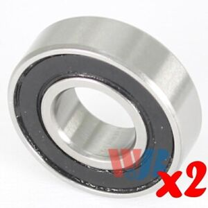 2pc Miniature Ball Bearing 4x9x4mm Wjb 684 2rs With 2 Rubber Seals