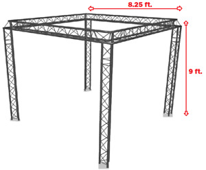 Trade Show Booth Trusses Dj Stage 9 X 8 25 Metal Truss Triangle Trusses Dj
