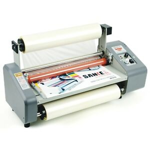 335mm A3 Four Rollers Hot Roll Laminator Adjust Speed Laminating Machine 220v