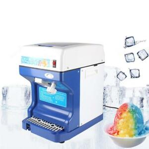 Electric Ice Shaver Machine Tabletop Shaved Ice Crusher Ice Snow Cone Maker Ey