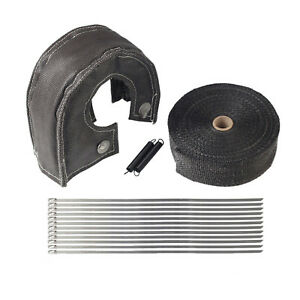 T3 Turbo Heat Shield Blanket Cover 2 50ft Exhaust Header Wrap Tape Us As