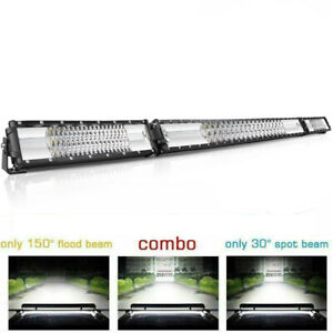 Curved 10d 52 Inch Led Light Bar 6272w Cree Quad Rows Combo Work Driving 50 54
