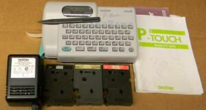 Brother P touch Label Maker pt 12 With Power Adapter And Accessories