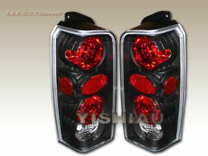 1997 2001 Jeep Cherokee Taillights Lamps Jdm Black New