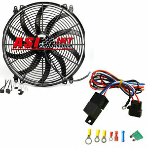 16 Electric Fan 2500 Cfm Wiring Install Kit Complete Thermostat 30 Amp Relay
