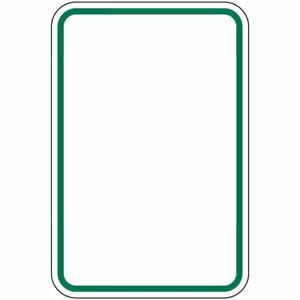 Compliancesigns Aluminum Parking Control Sign Reflective 24 X 18 In Blank
