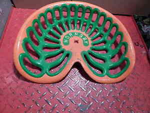 Vintage Hornsby Original Cast Iron Tractor Implement Seat Genuine Farm Antique