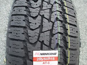 4 New 265 60r18 Inch Nankang Conqueror At 5 Tires 265 60 18 R18 2656018 60r