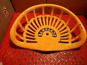 Vintage Bamfords Original Cast Iron Tractor Implement Seat Genuine Farm